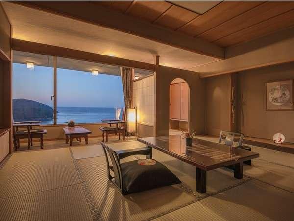 「最上階特別フロア 華真珠 和室 」12.5畳+踏込み2畳+着替えの間2畳のゆったり空間