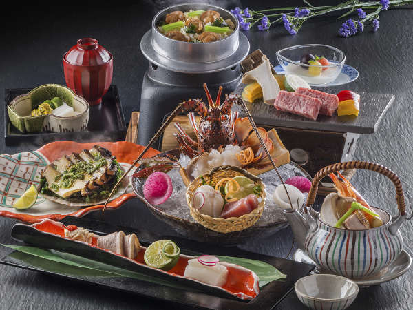 量より「質を重視した料理」が楽しめる会席コース写真はイメージです