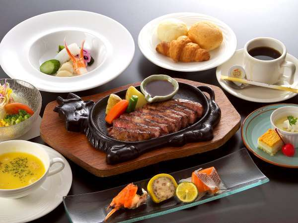【じゃらん限定★かんぽの宿★ポイント10%】牛ロースステーキで満腹!ステーキ洋食プラン〈夏〉