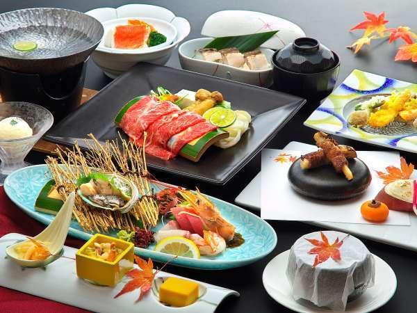 鮑や金目鯛、牛肉など料理長が厳選した秋の食材で美食を愉しむ◇錦秋プラン