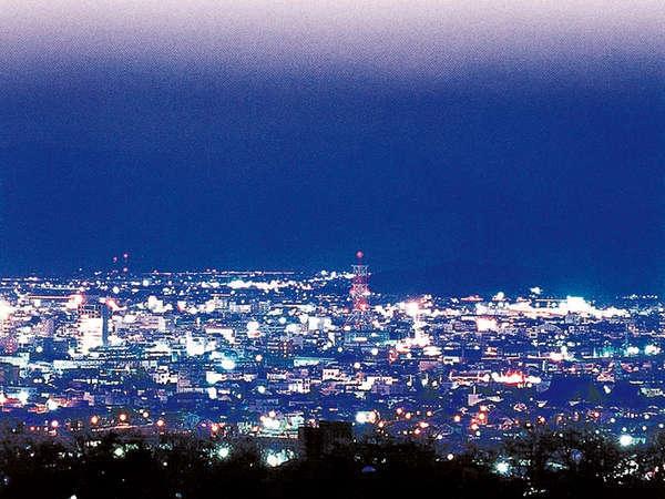 【当宿からの景観】福井市内の夜景