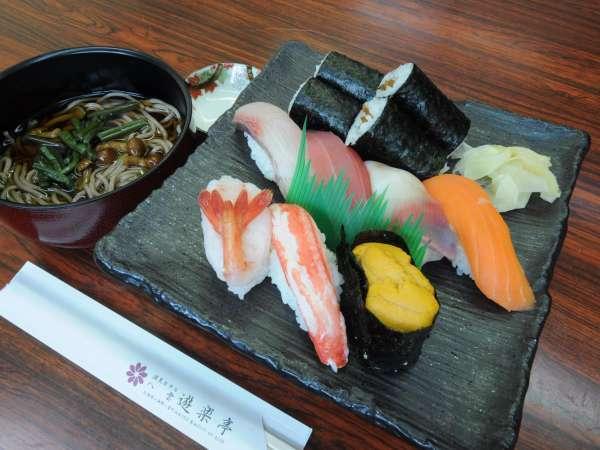 ◆夕食は館内の寿司処「遊楽」で新鮮にぎり寿司!噴火湾の海の幸を満喫!【2食付】