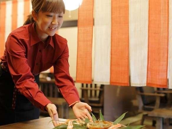 【一泊朝食プラン】 ★炭火焼お魚ビュッフェ!ライブキッチンにて食べ放題!更に特典付!