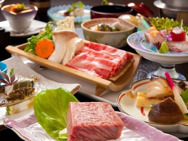 【お肉好きに堪らない】A4等級豊後牛しゃぶしゃぶ+湯布院牛サーロインステーキ欲張り懐石〜2食付〜