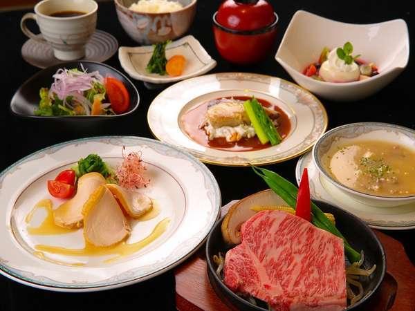 【湯布院牛ステーキ サーロインorヒレ☆】A4等級!豊後湯布院牛極上ステーキコース〜海山の蔵〜