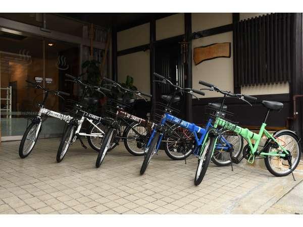 無料自転車レンタル先着5台あります!