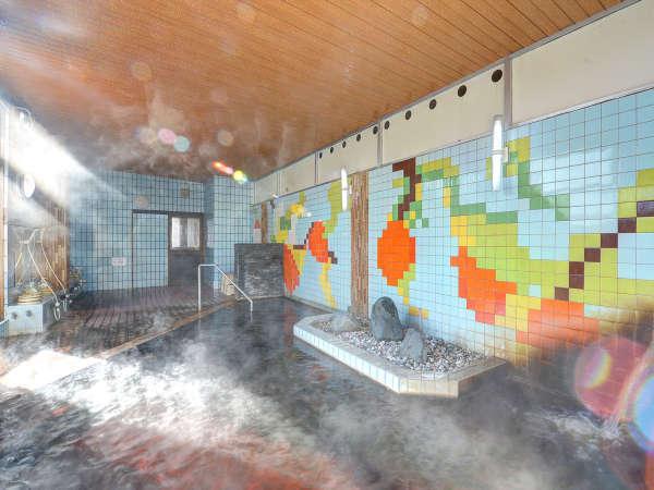 *[大浴場/男湯]24時間入浴可能なので、お帰りが遅くなっても安心。