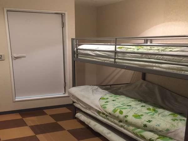 【禁煙】2段ベッド2人部屋丸々貸切プラン