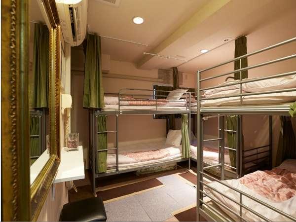 【禁煙】2段ベッド6人部屋丸々貸切プラン