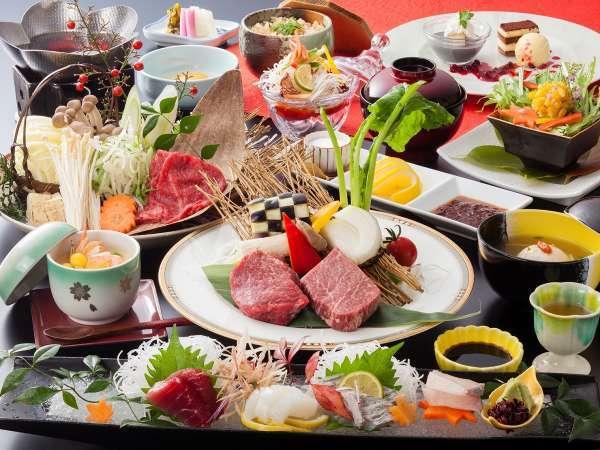 【熊野牛会席】和牛も魚介も味わう!南紀の大地で育まれた「熊野牛」を愉しむプラン<食事処>