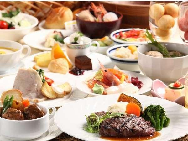 【料理】和洋中60品が揃う夕食バイキングイメージ