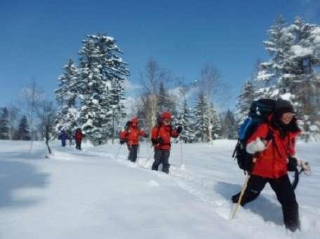 スノーシューハイキング(半日)&ディナープラン