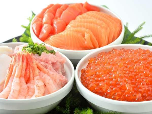 【朝食ブッフェ】オリジナル海鮮丼が好評♪
