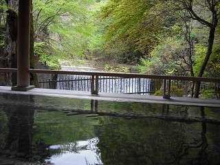 森のこだま・滝を眺めながら入浴
