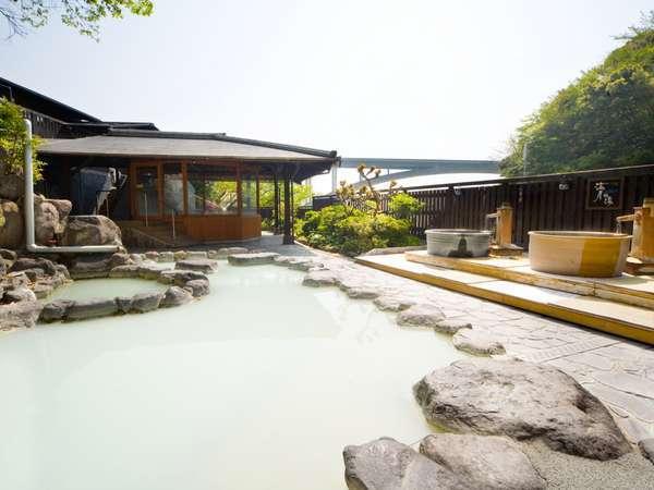 【1階露天風呂】「風と歩く露天風呂」12種類の温泉をたっぷり堪能いただけます(^^)/