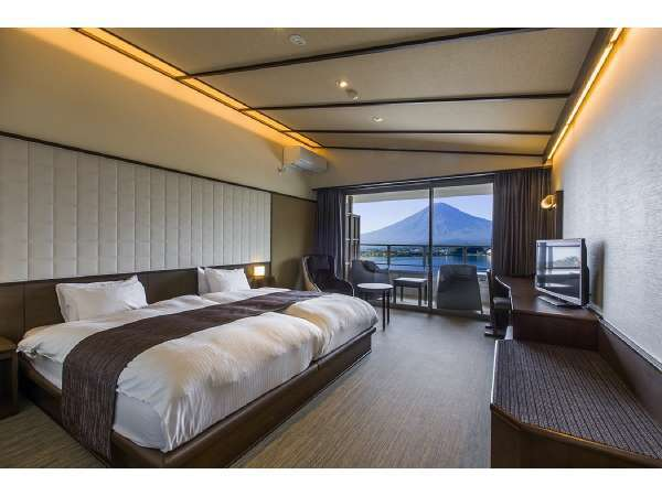 本館 和モダンツイン ※多機能シャワー付(一例):富士の全景と湖一望