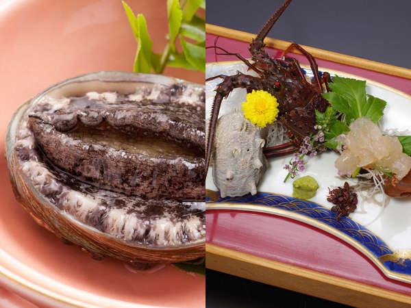 甘くてプリプリの伊勢海老と、ほのかな磯の香りが食欲をそそるアワビ。