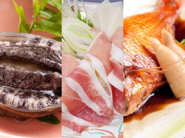 アワビと金目鯛を楽しむ会席料理