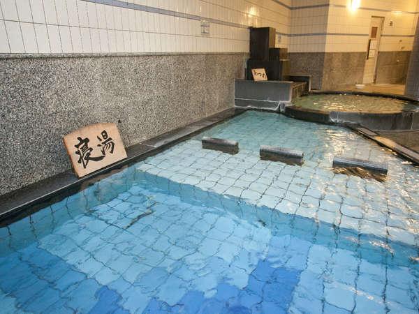 ☆【大浴場 オーロラの湯(殿方用)】寝湯・サウナなどが体を癒します。