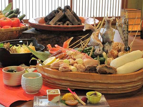 炉端で秋田郷土料理を存分に楽しむ♪