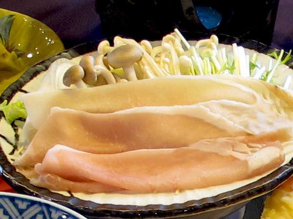 九州黒豚の豆乳しゃぶしゃぶ