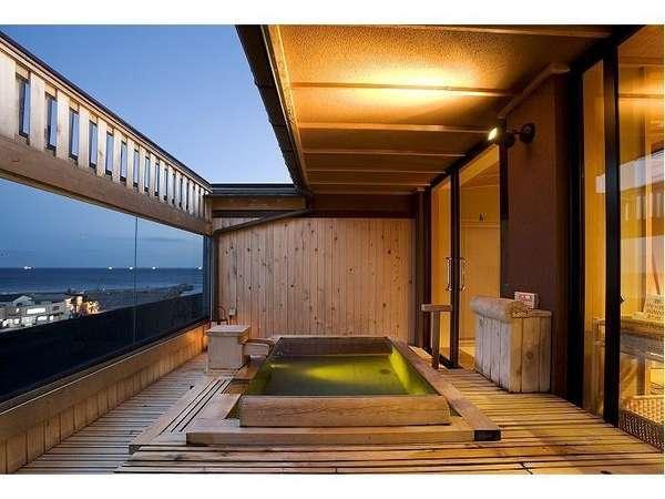 貸切展望露天風呂【海百景】です。ご予約はチェックインの際となっております。