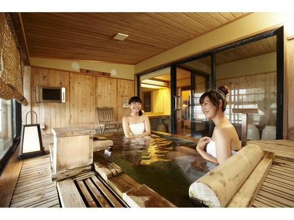 露天風呂付客一例でございます。