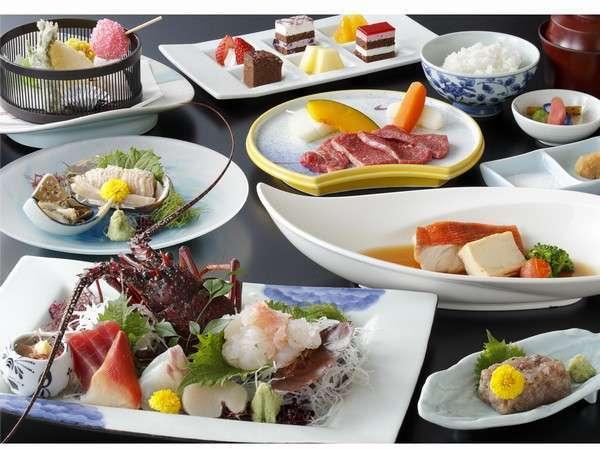 伊勢海老・鮑・国産牛・金目鯛など豪華食材の(美食三昧プラン):ポイントアップ