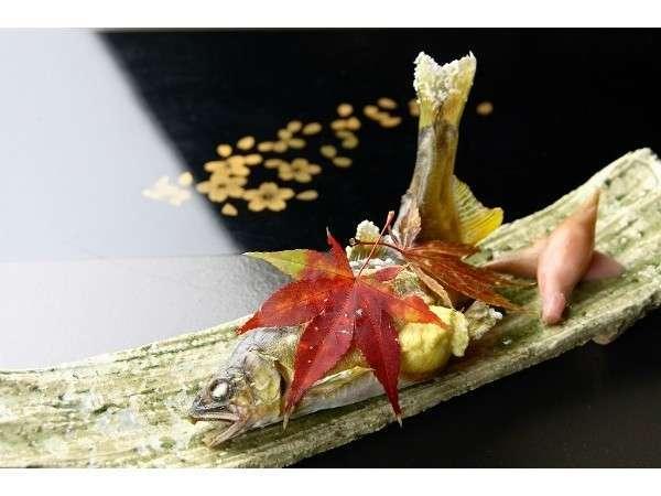 【旬今です】 千曲川産「子持ち鮎」を塩焼 + 信州プレミアム牛で焼肉を食す満喫プラン