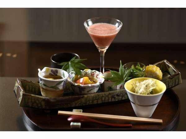 信州上田 「今」 の旬野菜会席を食す【特典付】信州黒毛和肉のリブサーロインをしゃぶしゃぶで堪能