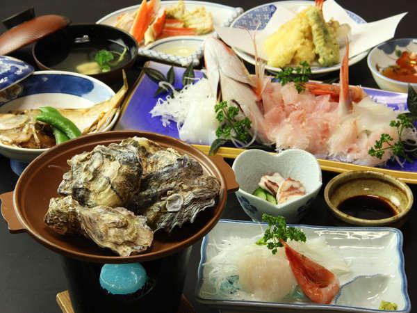 鮮度抜群の魚介類をたっぷり味わってください