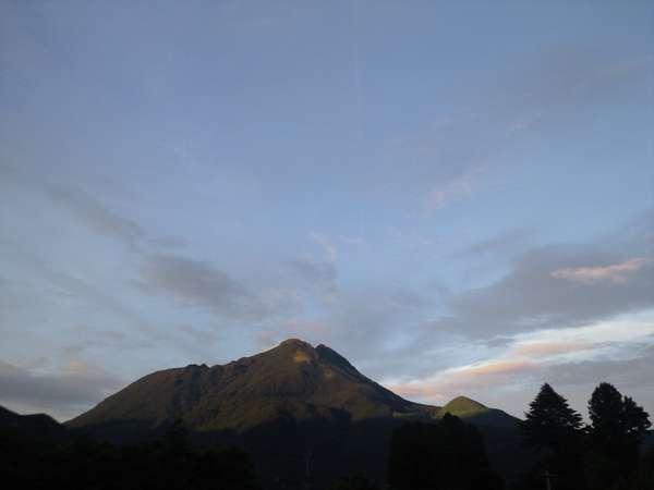 由布岳の夕方
