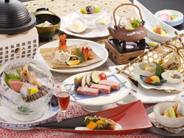 【料理グレードアップ】「特選佳松園会席膳」 標準客室タイプ