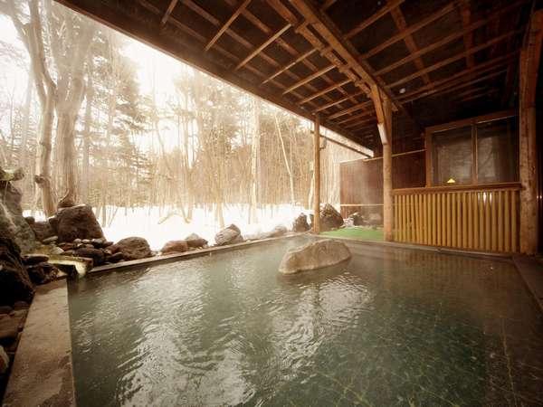 湯けむりの露天風呂