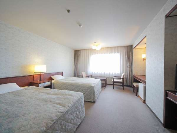 【松江城側ツイン】落ち着きと快適さを兼ね備えたお部屋です