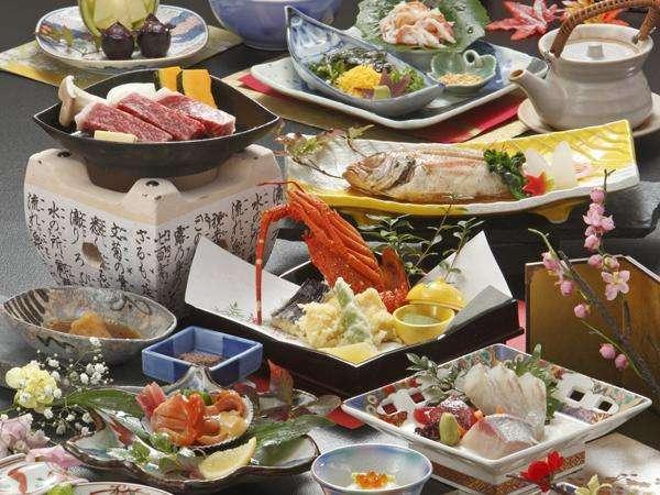 【料理】特選会席◆島根和牛&のどぐろ&伊勢海老他、贅沢三昧♪