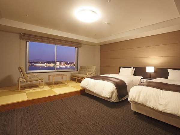 【部屋】湖側リニューアル和洋室36平米/禁煙