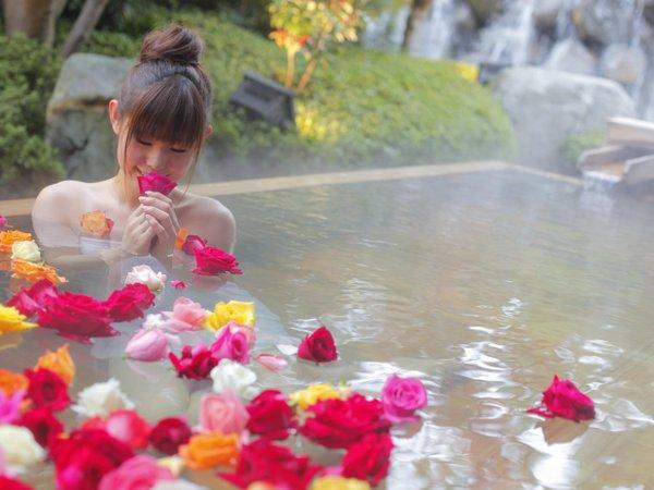 バラ風呂が楽しめる宿 三朝館