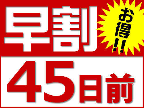 ☆45日前の予約限定☆スーパー早割りプラン(素泊り)