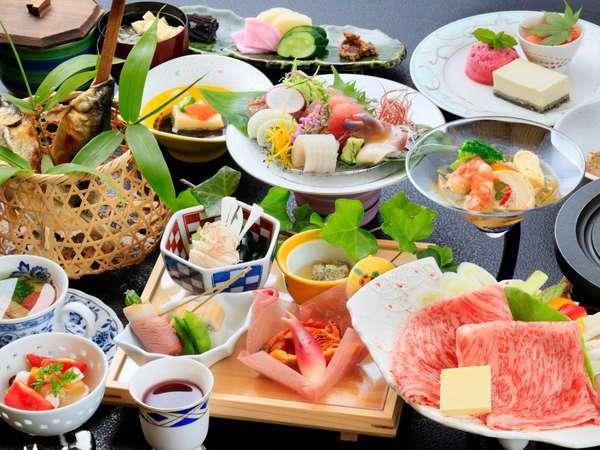 旬の食材を厳選した料理の数々。素材の旨みをご堪能下さい。(こちらはご夕食のイメージです)