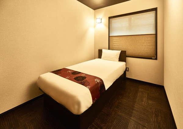 <モダン和室 Aタイプ(シングルルーム)>モダンな雰囲気の中にも和のアクセントカラーが鮮やかなお部屋!