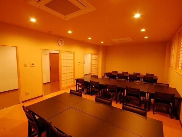 新館食事処。お客様の人数によっては別会場を利用する場合がございます。