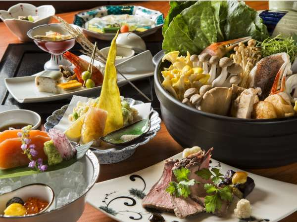 北海道の海の幸をふんだんに使った和食会席 写真提供:じゃらんnet