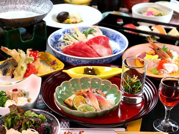 【お食事一例~松~】こだわり抜いた食材を贅沢に。最上級グレードアッププラン