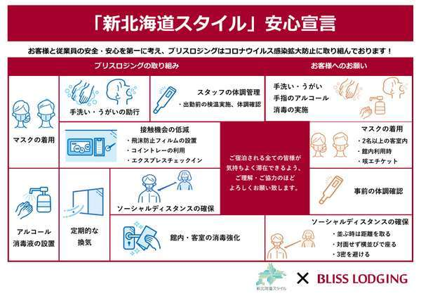 新型コロナウイルス感染症対策実施中です。お客様のご協力をお願い致します。