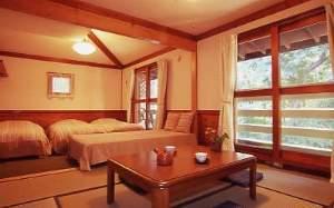 バルコニ―が2つある、13畳の和洋室