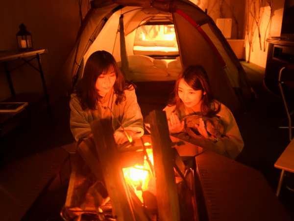 キャンピングルーム♪お部屋でキャンプ気分!キッチン付き