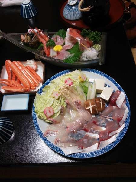 「じゃらん限定」平日ドリンク付、おやじが選んだ新鮮地魚★贅沢しゃぶしゃぶプラン♪