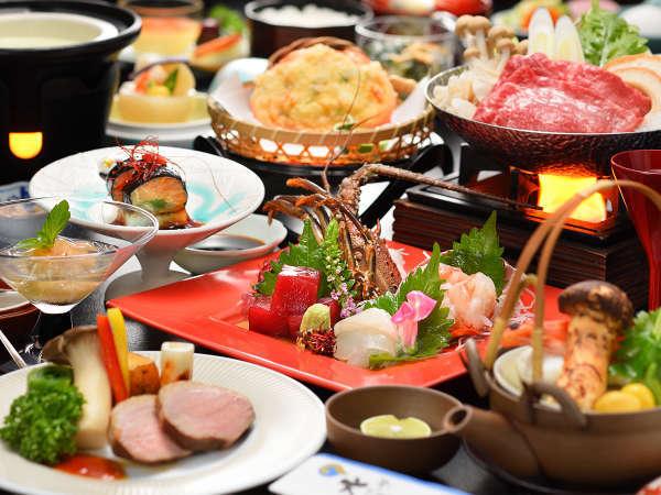 夕食グレードUP【摺上の膳】福島牛&贅沢旬の食材