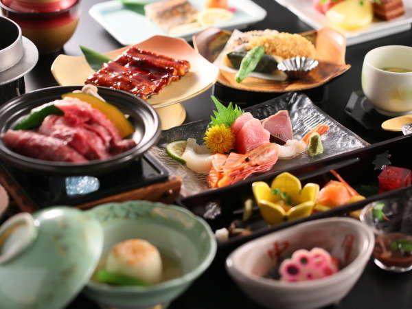 【グレードアップ】夕食一例。せっかくの旅行、食事も贅沢に♪